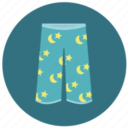 clothes, homewear, pajama pants, pajamas, pants, shorts, sleepwear icon