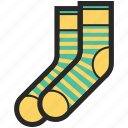 clothes, shopping, socks, sport wear icon