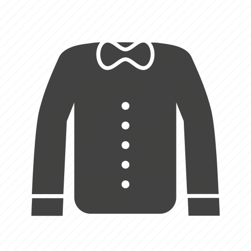 bow, dress, formal wear, shirt, suited, waiter's dress icon