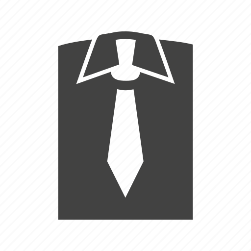 office wear, outfit, shirt, suit, tie icon