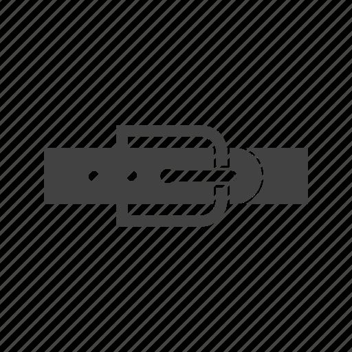 belt, leather belt, men's belt icon