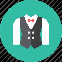 suit, waiter icon