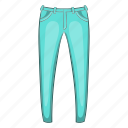 cartoon, cloth, fashion, jeans, mens, pant, sign icon