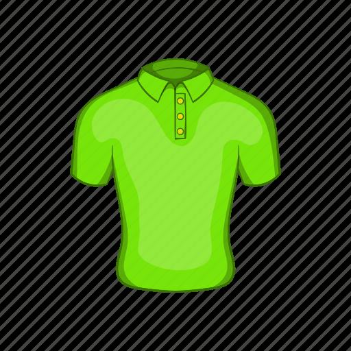 cartoon, cloth, front, green, mens, polo, sign icon