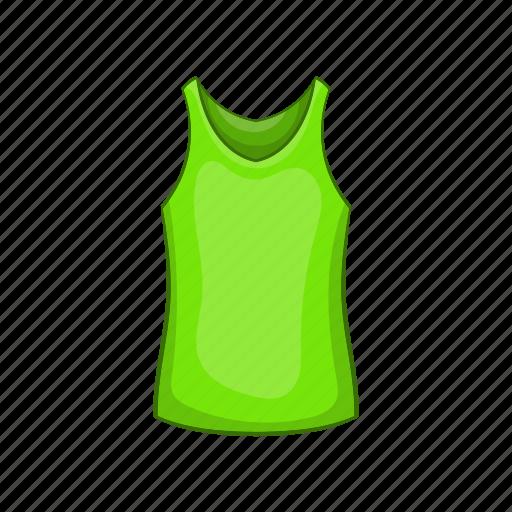 cartoon, cloth, front, green, mens, sign, t-shirt icon