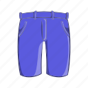 cartoon, classic, cloth, mens, pants, shorts, sign icon