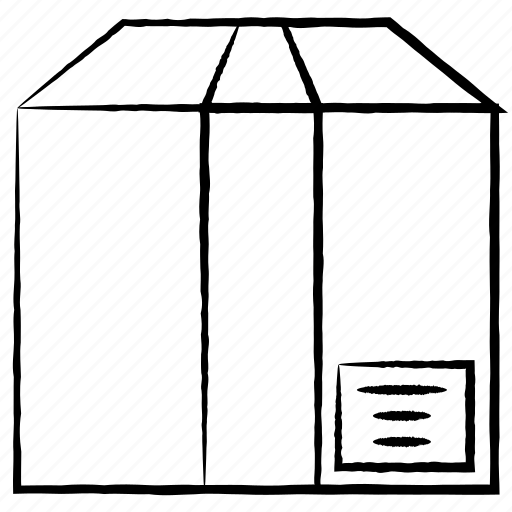 box, carton, cube, pack icon