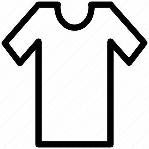 round neck, shirt, summer clothes, summer clothing, t-shirt, tee icon