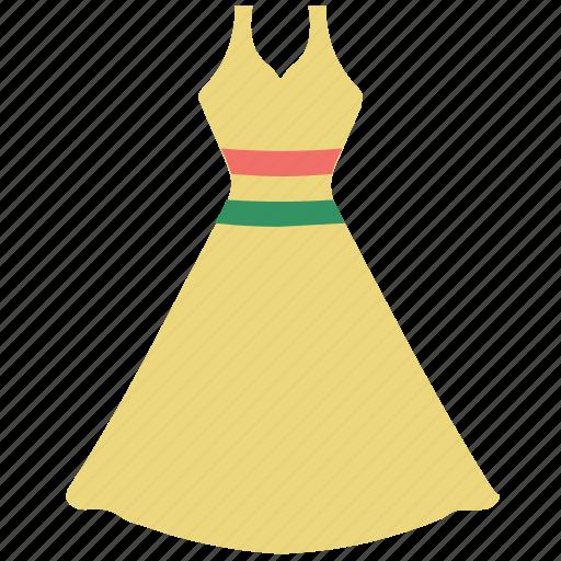 a-line, clothes, clothing, dress, princess, women icon