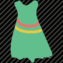 clothes, dress, full skirt dress, girl, house dress, sleeveless dress, women icon