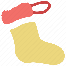 christmas sock, hose, sock, stocking, winter wear icon