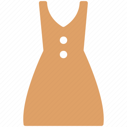 button front, casual, dress, full skirt dress, summer dress icon