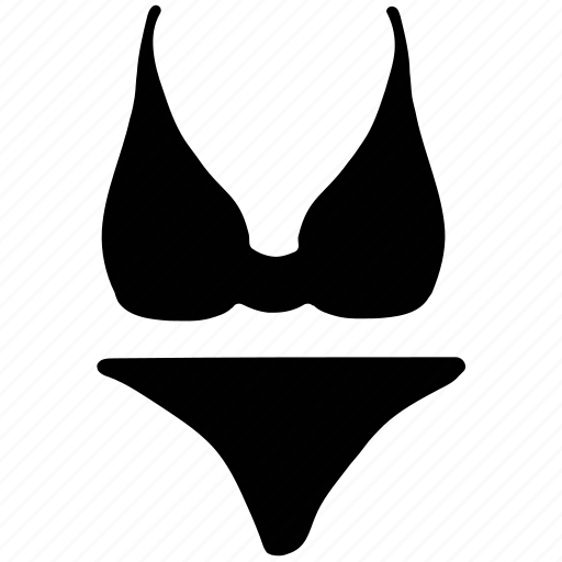 bikini, bra-penty, ladies, sexy, underthings, underwear icon