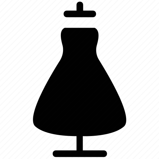 dress on dummy, dress with dummy, dummy dress, floral frock on dummy, mannequin dummy, mannequin with ladies dress icon