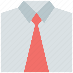 casual, dress, formal, official, shirt, shirt and tie, uniform icon