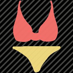 bikini, bra-penty, ladies, sexy, underthings, underwear icon