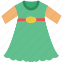 baby dress, clothing, kids, kids clothes, kids garment, smock icon