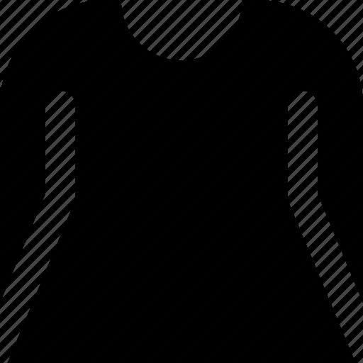 dress, long, sleeve icon