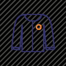 apparel, blazer, clothing, coat, jacket icon