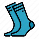 cloth, footwear, socks, winter icon