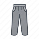 athletic, exercise, long pants, pants, trousers, workout icon