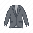 blazer, clothes, clothing, fashion, formal, jacket, long sleeve icon