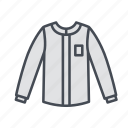 casual wear, clothes, clothing, fashion, long sleeve, roundneck, shirt icon