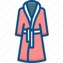 flannel, night clothes, nightdress, nightgown, nightshirt icon icon