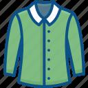 collar, long sleeve collar shirt, long sleeve shirt, shirts icon icon