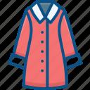 clothing, coat, fashion, female, jacket, wear, winter icon icon
