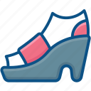 fashion shoe, footwear, ladies shoe, woman shoe icon icon