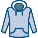 casual, clothes, fashion, hood, hoody, jacket, sweatshirt icon icon