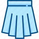 apparel, bottom, clothes, feminine, gown, skirt icon icon