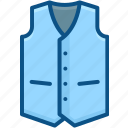 apparel, cloth, costume, garment, vest, waistcoat, wear icon icon