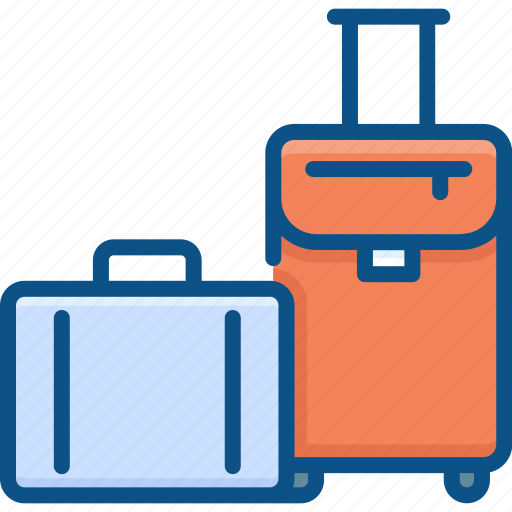 baggage, luggage, suitcase, travel, travelling icon icon
