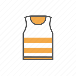 apparel, clothes, clothing, jersey, shirt, singlet, vest icon