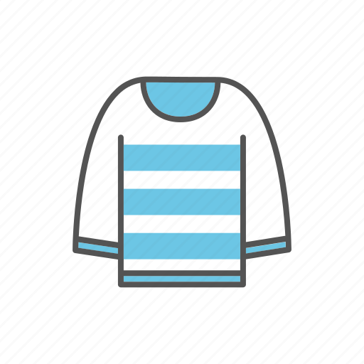 apparel, clothes, clothing, pullover, sweater icon