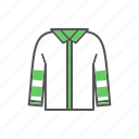 apparel, clothes, clothing, jacket, shirt icon