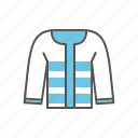 apparel, blazer, clothes, clothing, coat, jacket icon