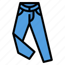 clothing, jeans, shop icon
