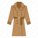 clothing, coat, shop, trench icon