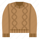 clothing, shop, sweater icon