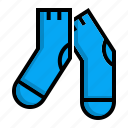 footgear, socks, stockings icon