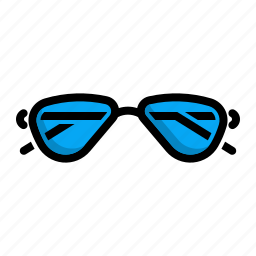 dark, glassess, shades, sunglasses icon
