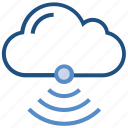 cloud, connection, internet, network, signals, storage, wifi icon