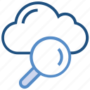 cloud, cloud search, find, magnifier, searching, server, storage
