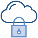 cloud, computing, lock, protection, security, storage icon
