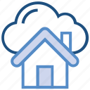 building, cloud, connect, home, house, server, storage icon