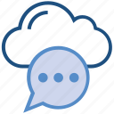 bubble, chat, cloud, comment, data, message, storage icon