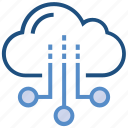 autumn, cloud, cloudy, storage, sun, sunny, weather icon